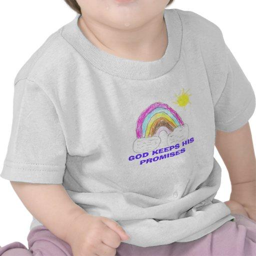 el arco iris, DIOS GUARDA SUS PROMESAS Camisetas