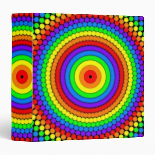El arco iris diseñó la carpeta