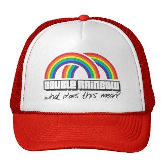 ¿El arco iris doble, qué hace este medio? Gorro