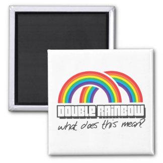¿El arco iris doble, qué hace este medio? Imán Cuadrado