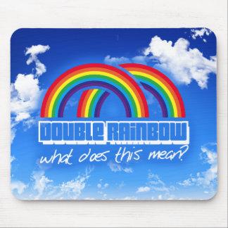 ¿El arco iris doble, qué hace este medio? Alfombrillas De Ratones
