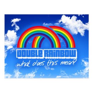 ¿El arco iris doble, qué hace este medio? Tarjeta Postal