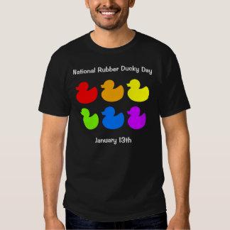 El arco iris Ducky de goma nacional del día Ducks Polera