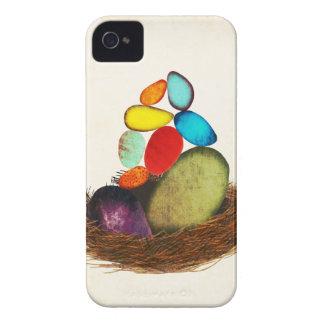 El arco iris Eggs la caja intrépida llevada bebé Carcasa Para iPhone 4 De Case-Mate