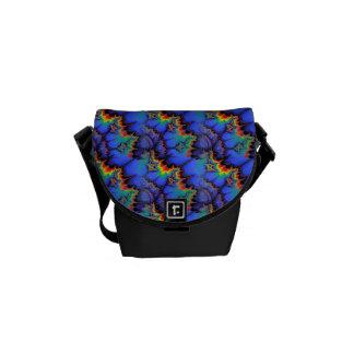 El arco iris eléctrico agita el modelo del arte bolsas messenger