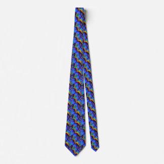 El arco iris eléctrico agita el modelo del arte corbata personalizada