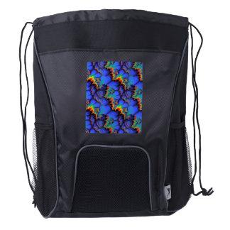 El arco iris eléctrico agita el modelo del arte mochila de cordón