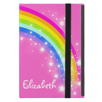 El arco iris embroma el caso rosado conocido de iPad mini cárcasas