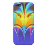 El arco iris empluma pieles electrónicas del fract iPhone 5 carcasas
