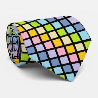 El arco iris en colores pastel ajusta negro corbatas personalizadas