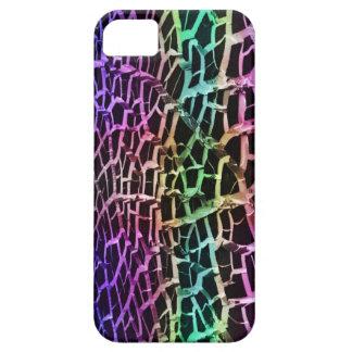 El arco iris enciende Iphone abstracto de tierra Funda Para iPhone 5 Barely There
