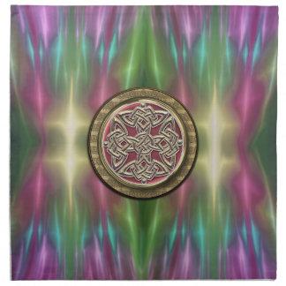 El arco iris enciende servilletas célticas del