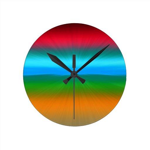 El arco iris enfocó las rayas relojes