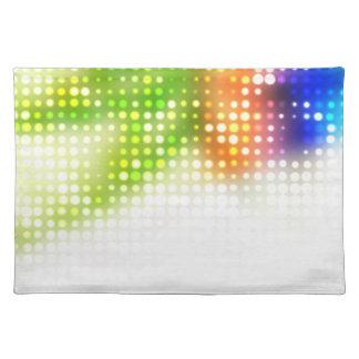 El arco iris enrrollado puntea el tono medio mantel individual