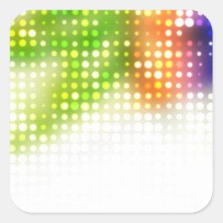 El arco iris enrrollado puntea el tono medio calcomanías cuadradass
