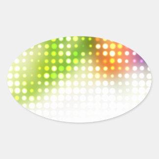 El arco iris enrrollado puntea el tono medio calcomanías ovaladas personalizadas