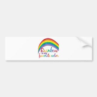 el arco iris es mi color preferido pegatina para auto