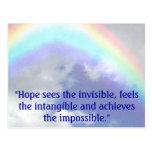 """el arco iris, """"esperanza ve el invisible, siente postales"""
