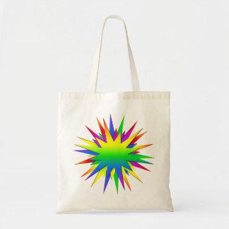 El arco iris estalló el bolso - elija el estilo y  bolsa tela barata