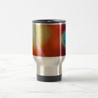 el arco iris estalló el pequeño sol de la pintura taza de viaje de acero inoxidable