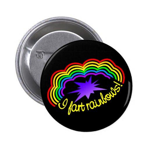 El arco iris Farts botón Pins