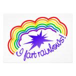 El arco iris Farts invitación, personalizar