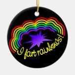 El arco iris Farts ornamento, personalizar Adorno De Navidad