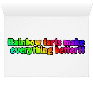 El arco iris Farts tarjeta