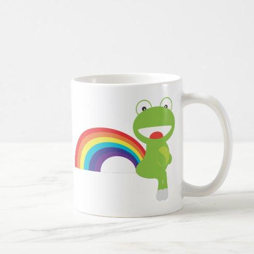 El arco iris Farts Taza Básica Blanca