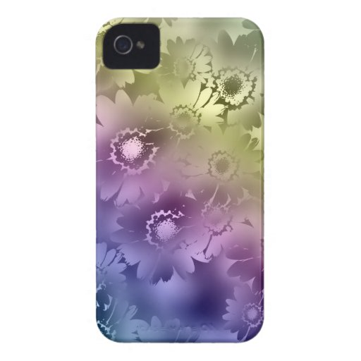 El arco iris florece la caja del iPhone 4 iPhone 4 Cárcasa
