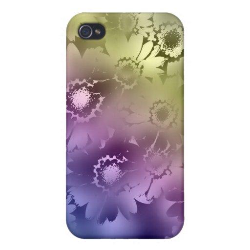 El arco iris florece la caja del iPhone 4 iPhone 4 Funda