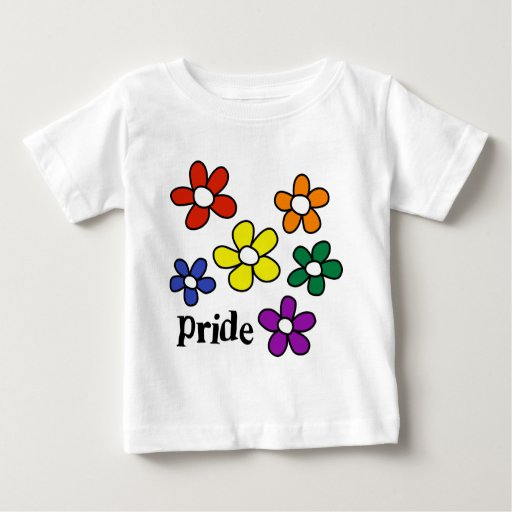 El arco iris florece orgullo camisas
