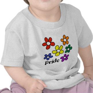 El arco iris florece orgullo camisetas