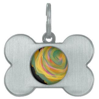 El arco iris frota ligeramente a Rosie la pintura  Placas De Nombre De Mascota