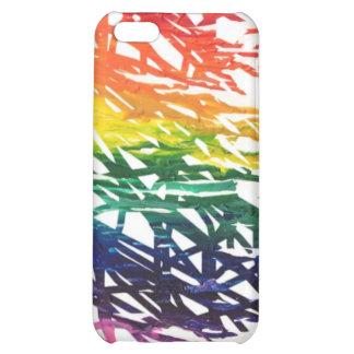 El arco iris garabatea el caso del iPhone 5