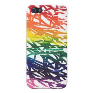 El arco iris garabatea el caso del iPhone 5 iPhone 5 Funda