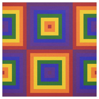 El arco iris geométrico ajusta la tela telas