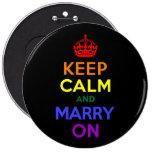 El arco iris guarda calma y se casa encendido pin
