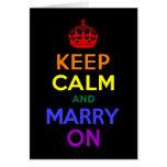 El arco iris guarda calma y se casa encendido tarjeta