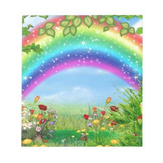 El arco iris hermoso, colorido diseñó productos bloc