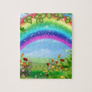 El arco iris hermoso, colorido diseñó productos rompecabeza con fotos