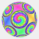 El arco iris infinito tuerce en espiral pegatina