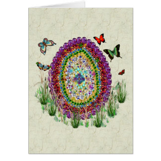 El arco iris Jewels el huevo de Pascua Tarjeta Pequeña