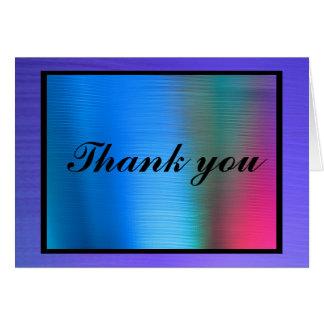 El arco iris le agradece tarjeta de felicitación