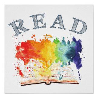 El arco iris leyó el poster del escondrijo del perfect poster