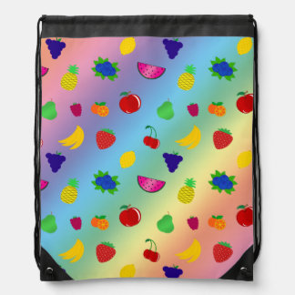 El arco iris lindo da fruto modelo mochilas