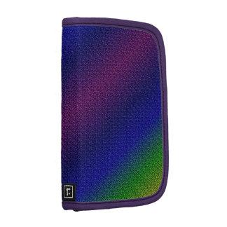 El arco iris metálico raya el folio del carrito de organizador