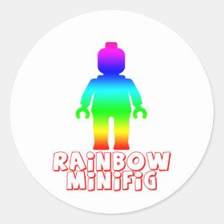 El arco iris Minifig cerca modifica mi Minifig par Pegatina