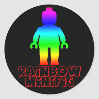 El arco iris Minifig cerca modifica mi Minifig par Etiqueta Redonda