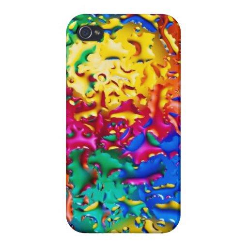 El arco iris mojado colorea la caja iphone5 iPhone 4/4S carcasas